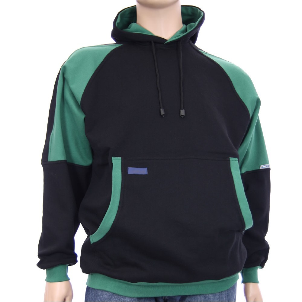 Mikina ADAM III klokanka - černá a zelená 8544229580