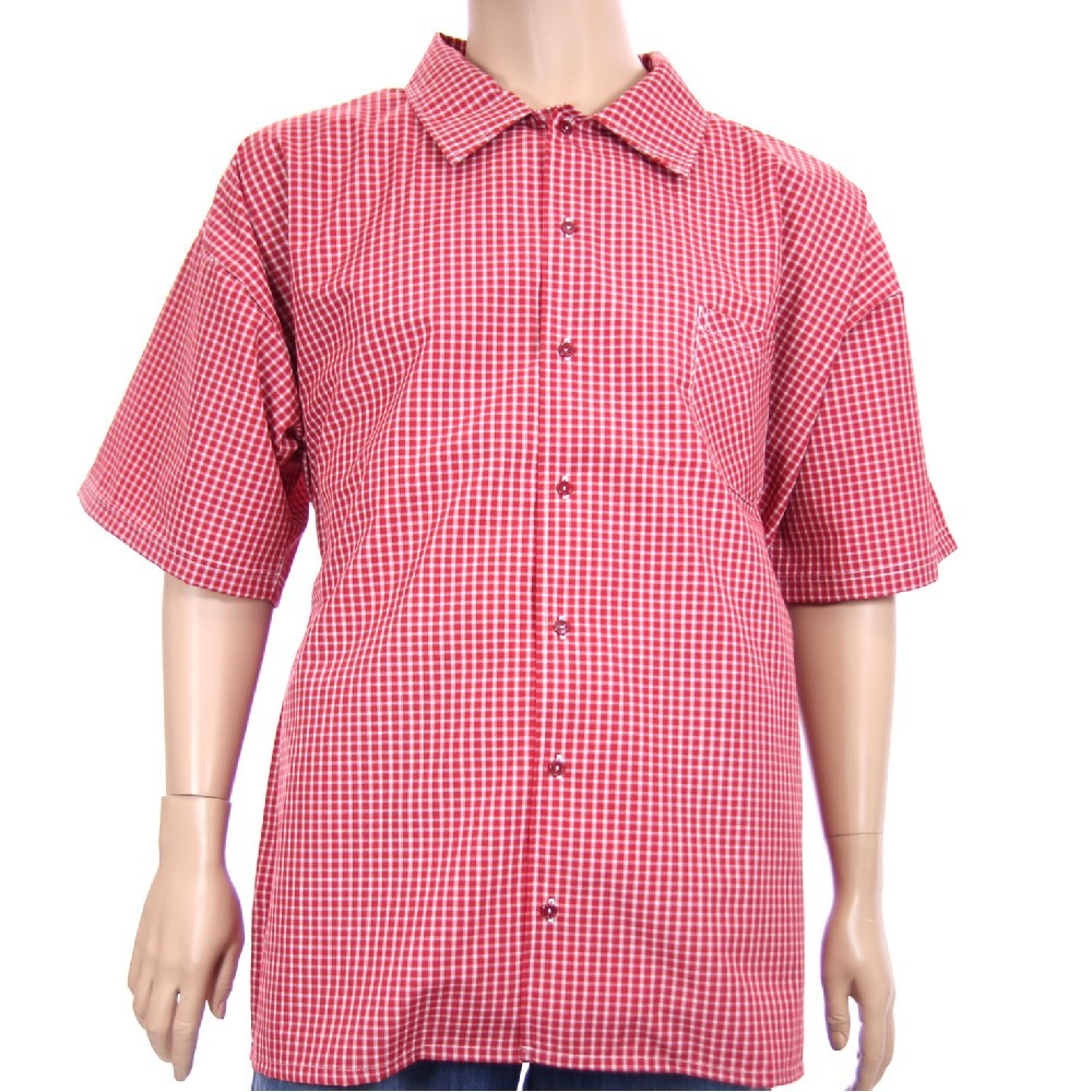 Košile AFLG krátký rukáv - červená kostička 1b6f439049