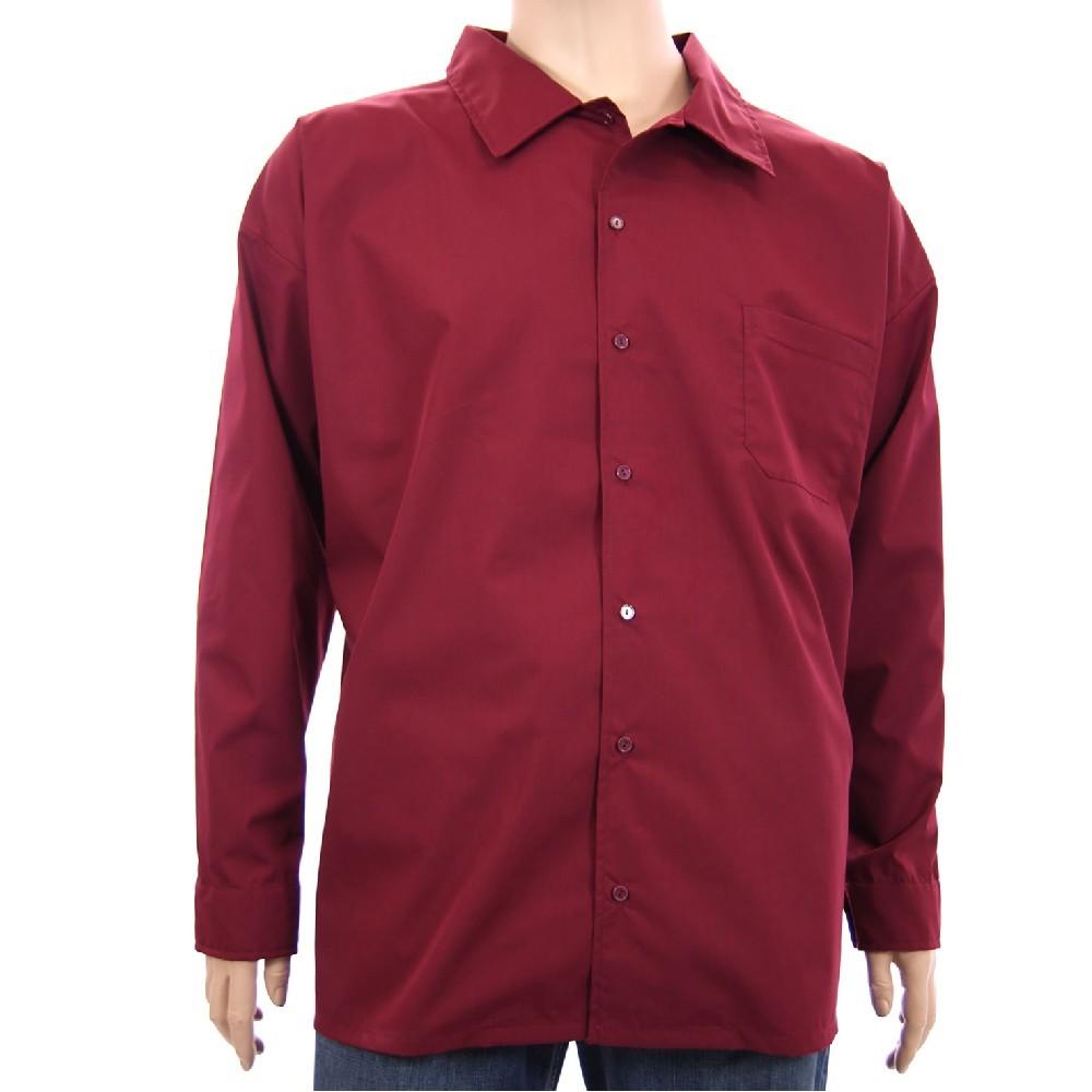 Košile AFLG dlouhý rukáv - bordó 365142e688