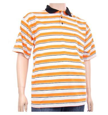 Polokošile MANN - oranžové pruhy