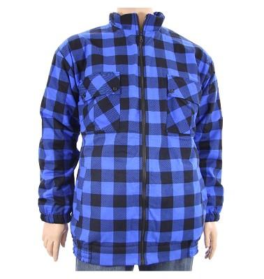 Zateplená bunda NERO - kostka modrá