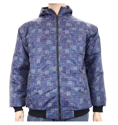 Zimní bunda AFLG III s kapucí - one way modrá