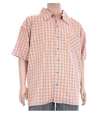 Košile AFLG krátký rukáv - oranžová kostička