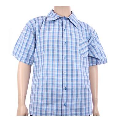 Košile AFLG krátký rukáv - světlemodré káro