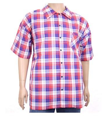 Košile AFLG krátký rukáv - červenomodré káro