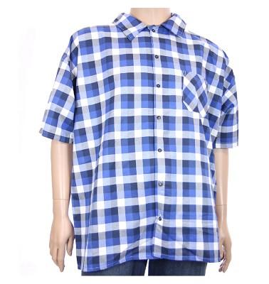 Košile AFLG krátký rukáv - modrá kostka