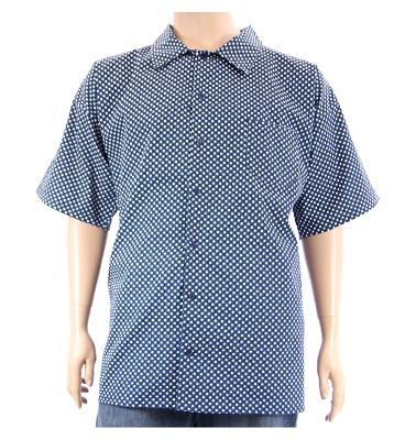 Košile AFLG krátký rukáv - modrobílé tečky