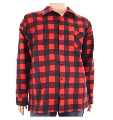 Košile AFLG dlouhý rukáv - kostka červená
