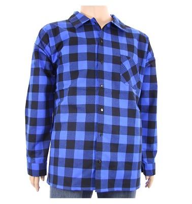 Košile AFLG dlouhý rukáv - kostka modrá