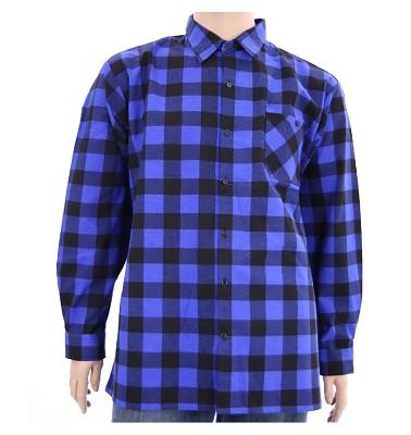 Košile ELEGANT dlouhý rukáv flanel - kostka modrá