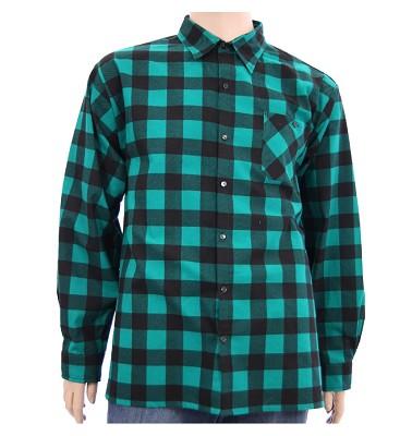 Košile ELEGANT dlouhý rukáv flanel - kostka zelená