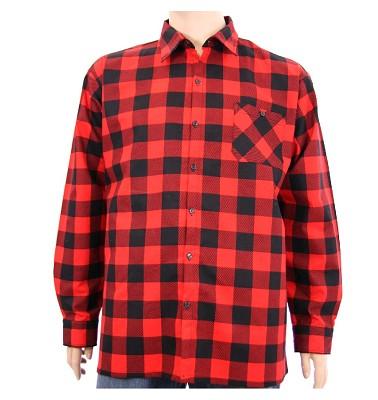 Košile ELEGANT dlouhý rukáv - kostka červená