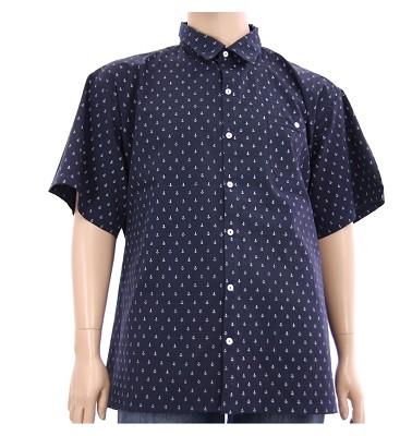 Košile ELEGANT krátký rukáv - tmavě modrá kotvička