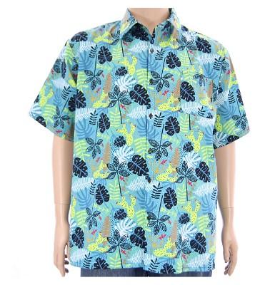 Košile ELEGANT krátký rukáv - letní vzor světlý